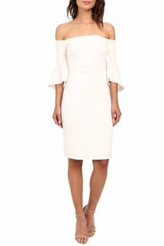 Laundry by Shelli Segal Montreal Stretch Crepe Off the Shoulder Cocktail Dress $35/Week