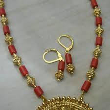 Pagadam earrings and Pagadam and gold mala