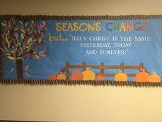 Fall bulletin board for church children's ministry