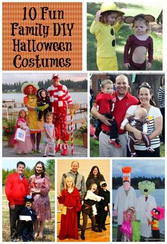 Looking for easy DIY Halloween costumes for your family? Here are the top ten themed costumes for families I've found.