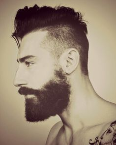 It's all about the hair must be hairy. mustache or beard and either long hair or part shaved Beards And Mustaches, Moustaches, Top Hairstyles For Men, Shaved Side Hairstyles, Haircuts For Men, Men's Haircuts, Men's Hairstyles, Hair And Beard Styles, Short Hair Styles
