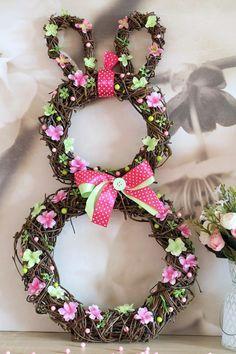 Easter Crafts, Grapevine Wreath, Easter Bunny, Floral Wreath, Jar, Wreaths, Homemade, Spring, Cakepops