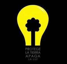 Proteje la tierra apaga la luz
