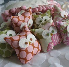 baby owls garland