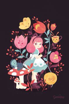 Mobile Vulgaris - Alice in Wonderland 150th anniversary on Behance by Gemma Roman