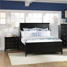 Magnussen Southampton Panel Bed 2 Piece Bedroom Set in Black Finish