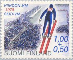 Ski Jump & Lahti Ski Stadium Ski Posters, Ski Jumping, Stamp Collecting, Postage Stamps, Finland, Skiing, Inspiration, Stamps, Ski