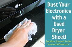 Dust Your Electronics With A Used Dryer Sheet
