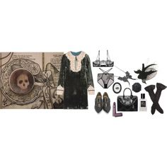 I Held My Own Death Cafe And You Can Too by ghoulnextdoor on Polyvore featuring Anna Sui, Only Hearts, Truths and Alexander McQueen