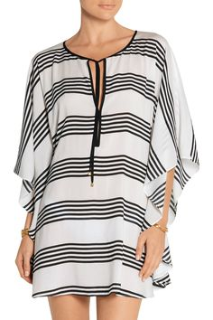 Shop on-sale Vix Striped voile kaftan. Browse other discount designer Beachwear & more on The Most Fashionable Fashion Outlet, THE OUTNET.COM