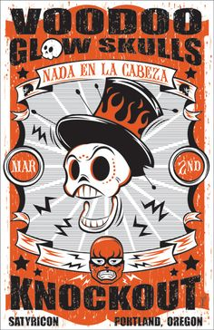 Voodoo Glow Skulls gig poster - I used to love going to Satyricon in Portland - great Souvlaki by Taki