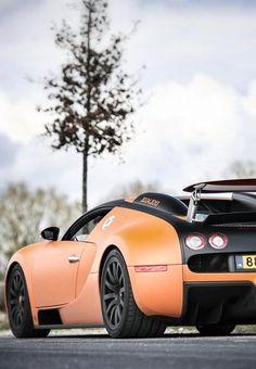 Orange Luxury Bugatti Veyron