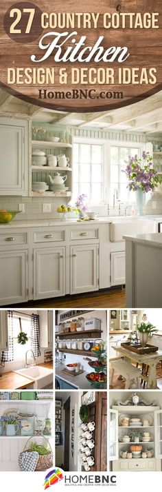 Country Cottage Style Kitchen Decor Ideas