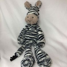 Jellycat Merryday Zebra Plush Stuffed Striped Animal Soft Toy Floppy Bashful #jellycat