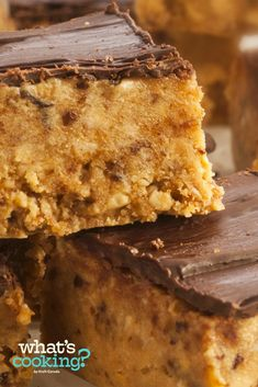 No-Bake Peanut Butter and Chocolate Oat Bars #recipe