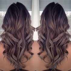 Grey/purple/brown ombré