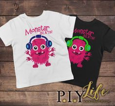 Child T-Shirt  Pink Monster Beats Toddler or Youth by ThePIYLife