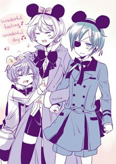 Ciel x Alios, + Luca. it looks like me and alois had a kids not that i dont want to have witha alois i meen gee luca