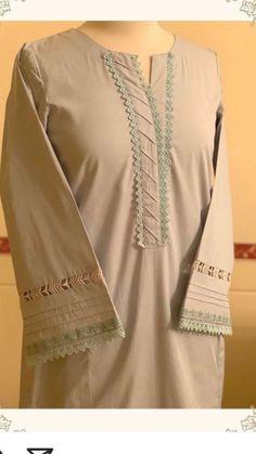 Salwar Neck Designs, Neck Designs For Suits, Kurta Neck Design, Sleeves Designs For Dresses, Kurta Designs Women, Girls Dresses Sewing, Stylish Dresses For Girls, Beautiful Dress Designs, Stylish Dress Designs