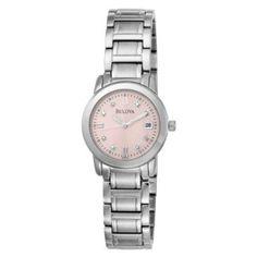 Bulova Women's 96P106 Diamond Accented Dial Bracelet Pink Dial Watch: $119.00 http://www.amazon.com/gp/product/B0021AEDJ6?ie=UTF8=1789=B0021AEDJ6=xm2=luclan-20
