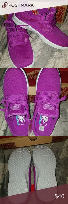 VANS ultra cush Size 6.5 . Neon purple mesh. Very comfortable .  New with box! Vans Shoes Sneakers