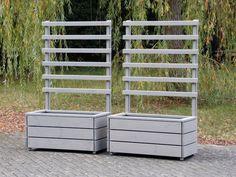 Pflanzkasten mit Rankgitter / Spalier, als Sichtschutz, Abgrenzung, Rankhilfe uvm.. In verschiedenen Größen und Farben erhältlich.