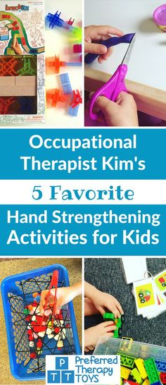 Fun and Easy Hand Strengthening Activities for Preschoolers and Early Elementary Aged Kids – Preferr Fine Motor Activities For Kids, Motor Skills Activities, Gross Motor Skills, Preschool Activities, Cutting Activities For Kids, Fine Motor Activity, 3 5 Year Old Activities, Preschool Fine Motor Skills, Occupational Therapy Activities