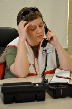 Suzanne Horsley, a Communications  Professor at the University of Alabama, assists the Red Cross after a tornado ripped through Tuscaloosa.