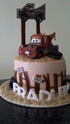 Mater Cake with cupcakes (not shown) I made.