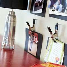 De-Clutter Desks - These handy, wall-mounted clips keeps your kid's desk free of clutter by displaying pictures, clippings, and invitations.