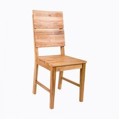 Contemporary Solid Oak Dining Chair Natural wood