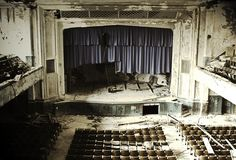 Abandoned theater, facinating soul it has, still beautiful...  http://www.flickr.com/photos/theredarmy/5445938672/