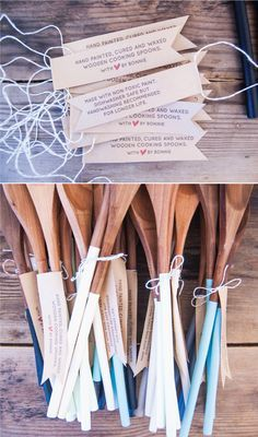 hand painted, cured and waxed wooden cooking spoons (an easy DIY gift!).