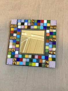 MOSAIC MIRROR  Home Decor Wall Hanging  Stained Glass