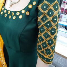 Embroidery Neck Designs, Embroidery Works, Kutch Work, Blouse Designs