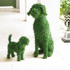 Moxie Faux Boxwood Garden Dog