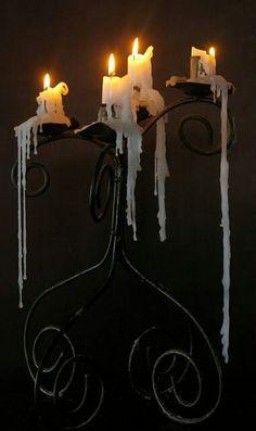 Melting candles