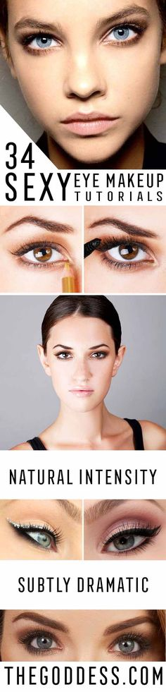 Sexy Eye Makeup Tutorials - Easy Guides on How To Do Smokey Looks and Look like one of the Linda Hallberg Bombshells - Sexy Looks for Brown, Blue, Hazel and Green Eyes - Dramatic Looks For Blondes and Brunettes - thegoddess.com/sexy-eye-makeup-tutorials