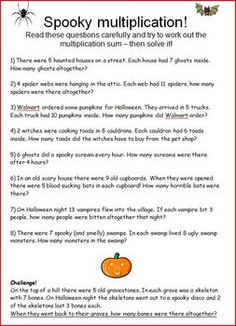 Monster Math - Free Printable World Problems for Halloween in 2018 ...