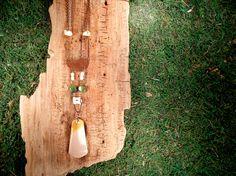 Copper Chrysoprase Bone White Howlite and by mirabiliajewelry