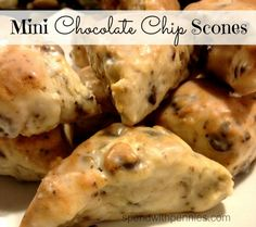 Delicious Chocolate Chip Scones http://www.spendwithpennies.com/mini-chocolate-chip-scones/