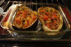 simplefoodhealthylife - Simple Food Healthy Life Home - Eggplant Boat o'Veggies