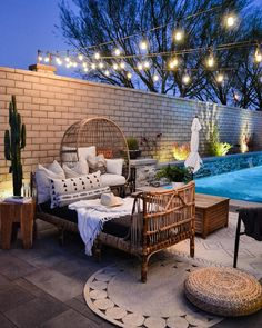 Rattan Daybed, Patio Daybed, Outdoor Daybed, Outdoor Lounge, Outdoor Living, Outdoor Decor, Outdoor Ideas, Modern Outdoor Sofas, Outdoor Spaces