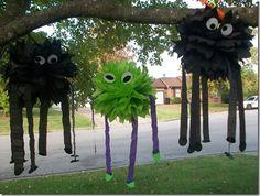 DIY Halloween spiders