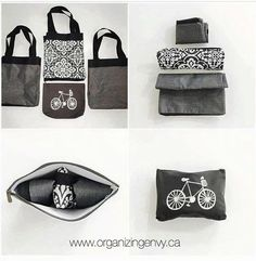 Thirty-One Gifts – Going to the market? Three Essential Storage Totes fit into a Zipper Pouch! This is a Tote for your Totes! #ThirtyOneGifts #ThirtyOne #Monogramming #Organization #NovemberSpecial #ZipTopOrganizingUtilityTote #ZipperPouch