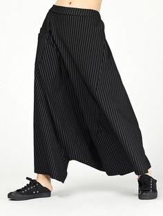Fashion Pants, Fashion Outfits, Harem Pants, Trousers, Comme Des Garcons, Color Stripes, One Piece Swimwear, Casual Pants, Going Out