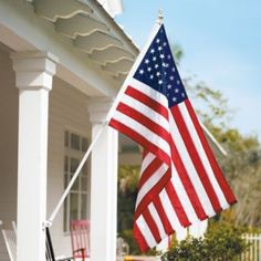 Proudly display your patriotism with our Estate Signature American Flag Set. A tangle-free spinning pole keeps your American flag flying neatly no matter what the weather. Patriotic Bunting, Patriotic Decorations, Patriotic Party, Halloween Decorations, A Lovely Journey, New American Flag, American Pride, Flying Flag, Us Flags