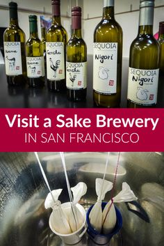 Things to do for foodies in San Francisco --> Local craft sake tasting at San Francisco's Sequoia Sake! Learn how this local brewery is making this traditional Japanese rice wine drink with California inspiration.