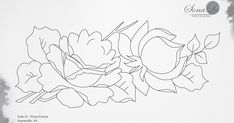 Embroidery Flowers Pattern, Flower Patterns, Flower Line Drawings, Rose, Blog, Owl Art, Painting Tips, Fabrics, Doodle Flowers
