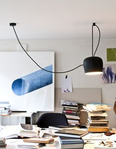 Aim Lamp  2013 Adjustable pendant light collection  Body in varnished aluminium sheet, shade in photo-etched optical polycarbonate. LED light source (2700K 1250lm). Ø243 x 211 mm  Flos